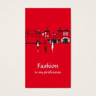 Fashion blogger social media business card