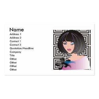 Fashion boutique, beauty salon or makeup artist business card templates