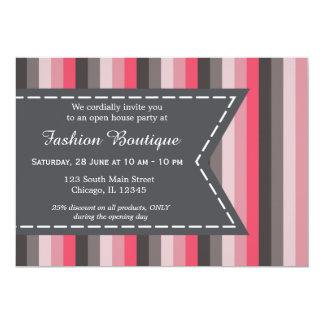 """Fashion boutique 5"""" x 7"""" invitation card"""
