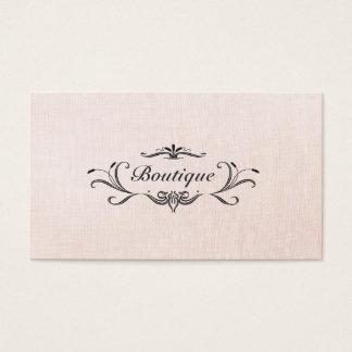 Fashion Boutique Pink Faux Linen Business Card