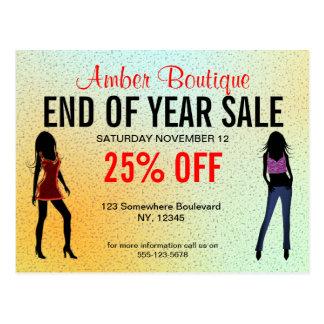 Fashion Boutique Sale Promotion Custom Postcard