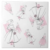 Fashion Bride Pink Group Multi tile