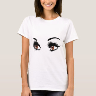 Fashion Brown Eyes T-Shirt