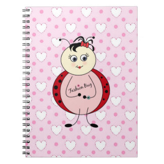 Fashion Bug Ladybug Fashionista Spiral Notebook
