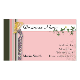 Fashion Business Card [pink/brown] - Customized