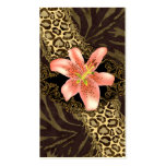 Fashion Business Cards Lily Leopard Suede Zebra