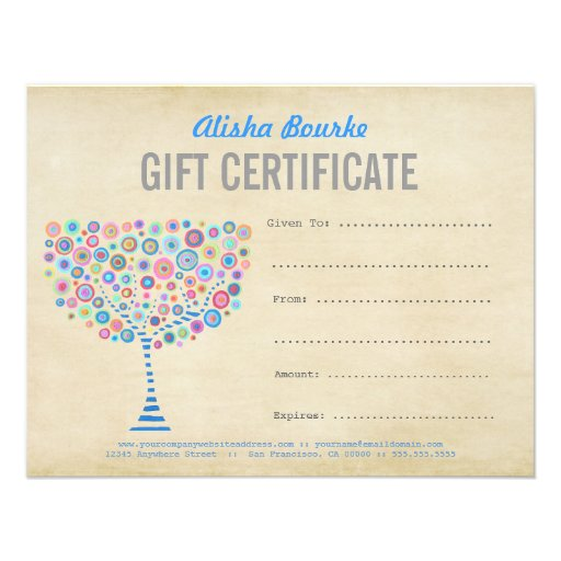 Fashion business gift certificate template 425x55 paper invitation card zazzle for Zazzle gift certificate