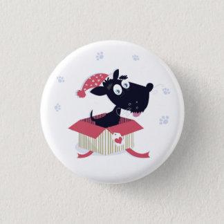 Fashion button with Black dog