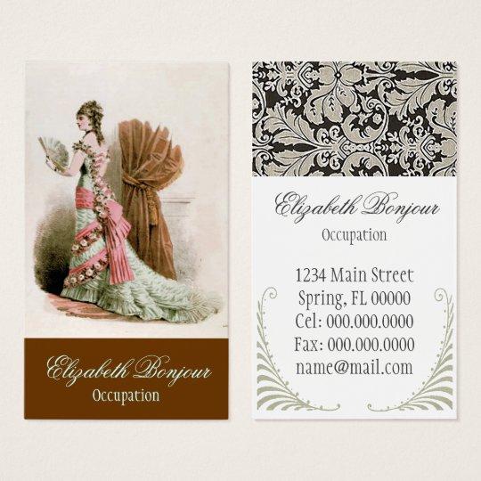 Fashion Catalog ~ Business Card Dress Vintage