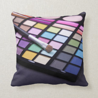 Fashion Chic Makeup Eyeshadow Throw Pillow