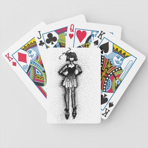 Fashion Chick Black Bob Poker Cards