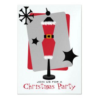 Fashion Christmas Party Santa Suit Dress Form 5x7 Paper Invitation Card