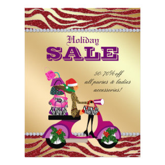 Fashion Christmas Sale Flyer Scooter Woman PS