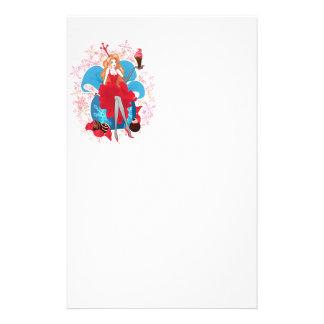 Fashion Christmas stylish red gray illustration Stationery