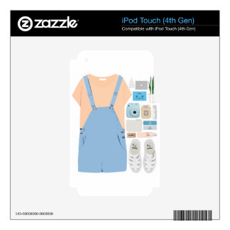 Fashion Collage Decal For iPod Touch 4G