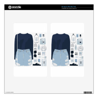 Fashion Collage Decals For Kindle Fire
