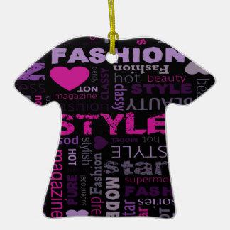 Fashion Collage Design Ornament