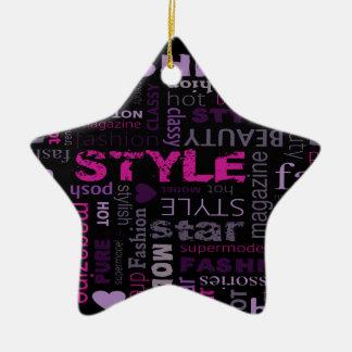 Fashion Collage Design Ornaments