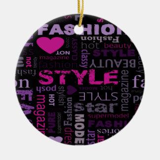 Fashion Collage Design Christmas Tree Ornament