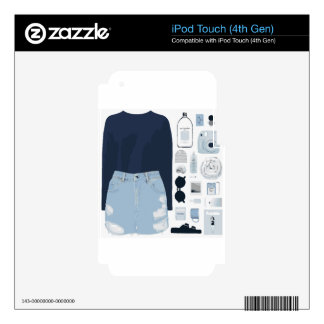 Fashion Collage iPod Touch 4G Skins