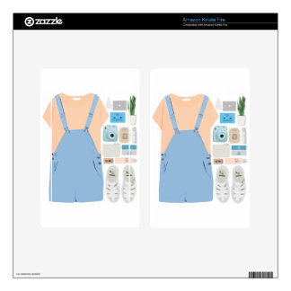 Fashion Collage Skins For Kindle Fire