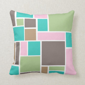 Fashion color Abstract Rectangle  pattern Pillow