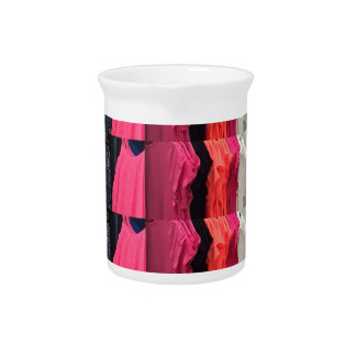 Fashion Colorful pattern print template add text Beverage Pitcher