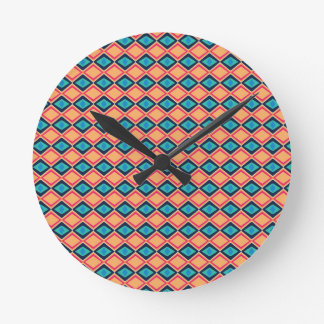 fashion colors round clock