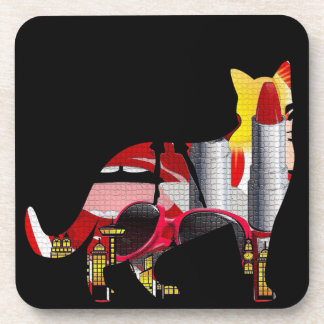 Fashion Crazy Cut Out Design Coasters