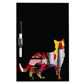 Fashion Crazy Cut Out Design Dry-Erase Whiteboards