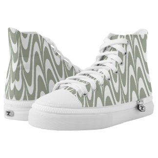 Fashion Desert sage and white waves Printed Shoes