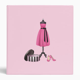 Fashion Design Binder in Pink and Black