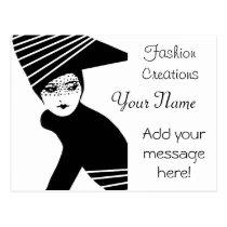 artsprojekt, business card, fashion, dresser, consultant, elegant, business, designer, mannequin, handmade, dress, artist, stylist, modern, beauty, custom, postcards, occupations, professional, glamour, style, cosmetology, design, profile, template, cards, stylish, cosmetics, diva, advertisement, coordinator, designs, artistic, women's, fashions, glam, magazine, vogue, dressmaker, Cartão postal com design gráfico personalizado