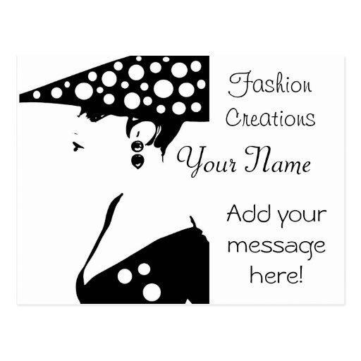 Fashion Designer Advertisement Postcard