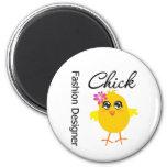Fashion Designer Chick Magnets