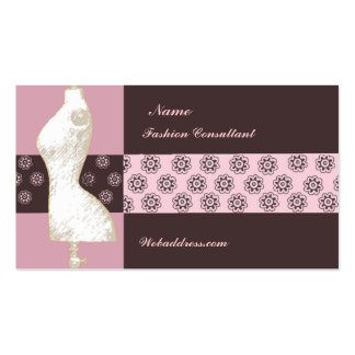 Fashion Designer Consultant Double-Sided Standard Business Cards (Pack Of 100)