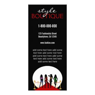 Fashion Designer Custom Rack Card Template