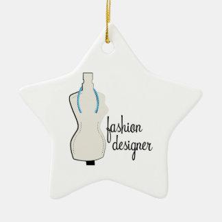 Fashion Designer Double-Sided Star Ceramic Christmas Ornament
