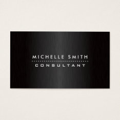 Fashion Designer Elegant Professional Modern Black Business Card at Zazzle