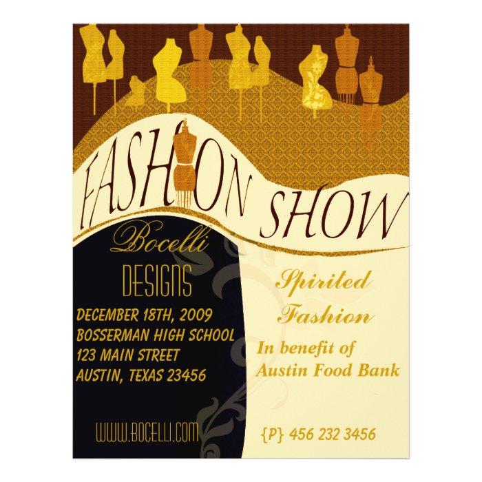 Fashion Designer Fashion Show Invitation Flyer Zazzle