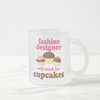 Fashion Designer (Funny) Gift Frosted Glass Coffee Mug