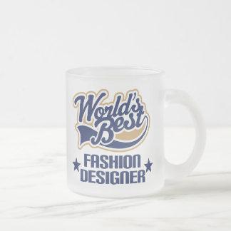 Fashion Designer Gift (Worlds Best) Frosted Glass Coffee Mug