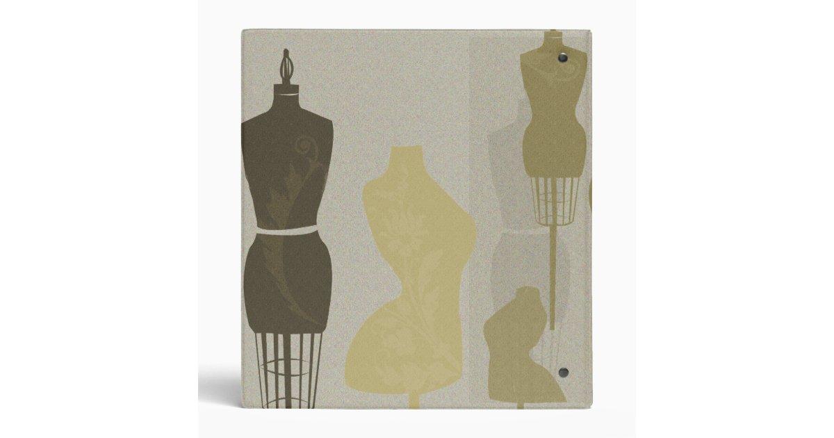 Fashion Designer Mannequin Chic Binder Zazzle
