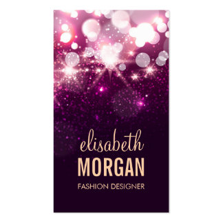 Fashion Designer - Pink Glitter Sparkles Double-Sided Standard Business Cards (Pack Of 100)