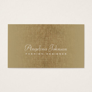 Fashion Designer Simple Bronze Linen Card