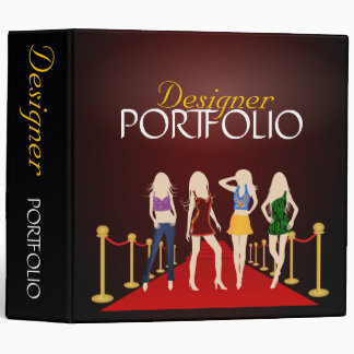 Fashion Designer Stylist Portfolio Custom Binder