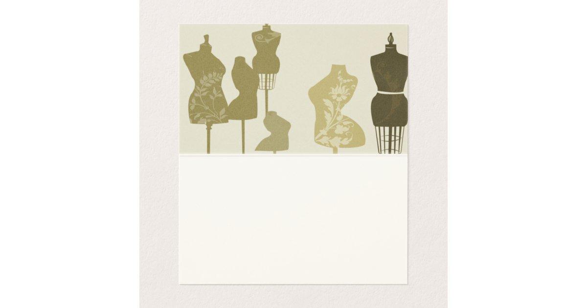 Fashion Designer Vintage Mannequin W Florals Business Card Zazzle Com