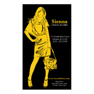 Fashion Designer (Yellow) Business Card
