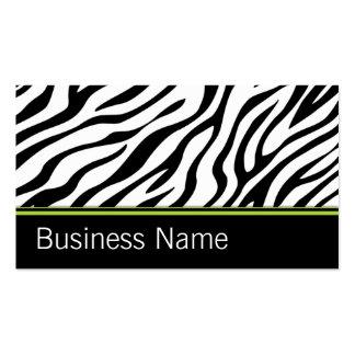 Fashion Designer Zebra Print Hair Stylist Salon Business Card Template