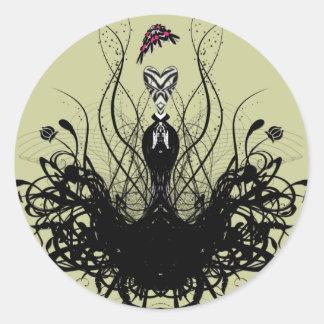Fashion Diva Classic Round Sticker